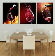3 piece canvas art kitchen canvas paintings red wine cup bottle wall art dinning room pictures vineyard vines modern painting in painting calligraphy from