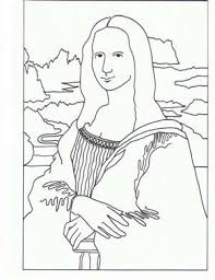 Small Picture Mona Lisa Coloring Pages