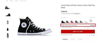 Chuck Taylor All Star Size Chart Toddler Converse Size Chart Chuck All Star Hook And Loop