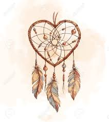 Dream Catchers Sketches Hand Drawn Ethnic Dreamcatcher Heart Native Vector Illustration 59