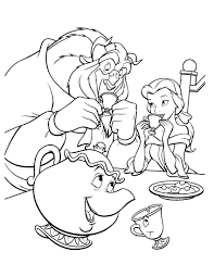 Beauty And The Beast Coloring Page Disney Coloring Pages Disney