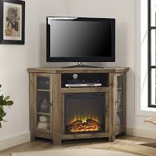 loon peak pueblo corner tv stand with electric fireplace for amazing fireplace stand