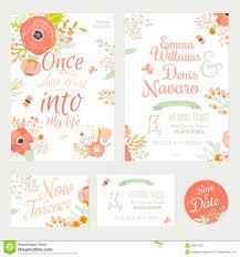 Romantic Date Invitation Template Vintage Romantic Floral Save The Date Invitation Stock Vector