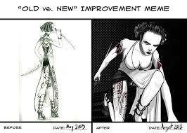 Old vs. New Improvement Meme by blackdahlia on DeviantArt via Relatably.com