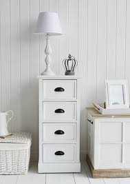 southport white tall narrow drawers for bedroom furniture