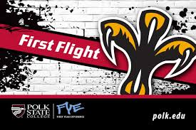 first flight student convocation polk state college front