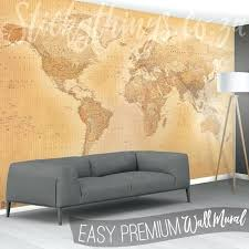 world map mural vintage in a lounge wall ikea world map mural final fantasy vii paper wall