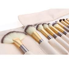 the professional gold plete makeup brush set high quality elite beauty cosmetic tools blender kit white cream case dhl free eye makeup beauty from