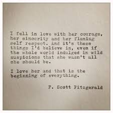 She Was Beautiful Quote F Scott Fitzgerald Book Best Of F Scott Fitzgerald Love Quote Made On Typewriter By Farmnflea