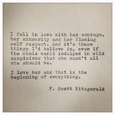 She Was Beautiful Quote F Scott Fitzgerald Book Best Of F Scott Fitzgerald Love Quote Made On Typewriter By Farmnflea