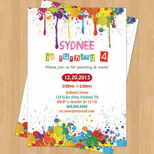 Birthday Invitation Party Arts And Crafts Birthday Party Invitation Digital Printable