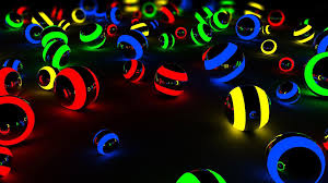 Light Balls Neon Wallpapers - Wallpaper ...