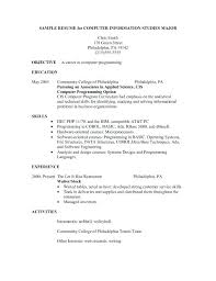 cocktail waitress resume skills barista sample samples download waiter