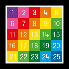 1 25 Number Chart Numbers 1 25 Related Keywords Suggestions Numbers 1 25