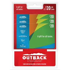 outback steakhouse gift card balance check photo 1