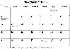 Calendar 2013 Template Printable Calendar 2013 November 27 Images Of November Month