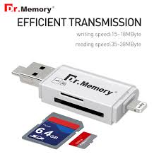 iphone external storage. aliexpress.com : buy dr.memory external storage microsd tf card reader usb 3.0 sd adapter for iphone 6s 7 plus ios10 multi use metal pendrive from n