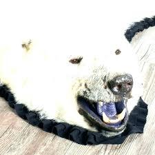 faux lion rug bear rug fake polar bear rug lion head pelt fake skin with faux