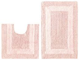 pink bathroom rug set 2 piece reversible bath rug set race track light pink by cotton pink bathroom rug