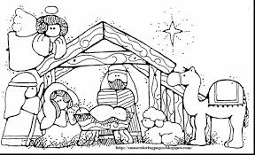 Small Picture marvelous printable nativity coloring pages for kids with nativity