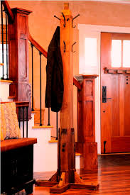 nyc empire state building inspired custom designer fabricator builder of antique reclaimed wood craftsman coat stand
