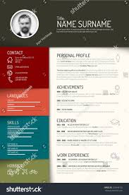 Vector Minimalist Cv Resume Template Dark Stock Vector Royalty Free