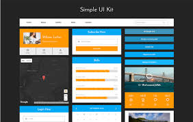 Simple Website Template Mesmerizing Simple UI Kit A Flat Bootstrap Responsive Web Template