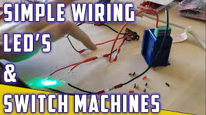 model railroad how to switch machine led s