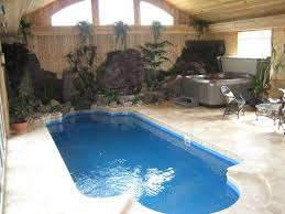 Indoor Outdoor Pool Residential Stunning Small Residential Indoor Pool Design With Cream Concrete