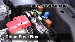 replace a fuse 2013 2017 nissan altima 2014 nissan altima s 2 5l 6 replace cover secure the cover and test component