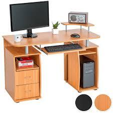 Tectake scrivania porta pc computer tavolo ufficio con ripiano