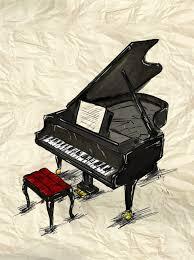 piano painting image free photo