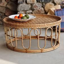 surprising round rattan coffee table 26 vintage 3