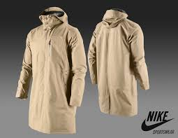 new nike nsw gore tex pae shell hayward trench coat camel xl t