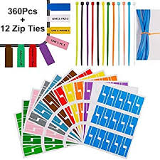 Shop shipping labels at staples and save. Amazon Com Goordik 360 Pcs Cable Tags Cable Labels Stickers Waterproof Cable Markers Printable And Handwriting Cable Organizer With 12 Nylon Wire Straps 12 Assorted Color Office Products