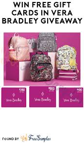 win free gift cards in vera bradley