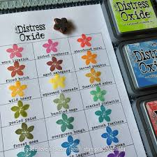 Stampingmathilda Distress Oxide Color Chart