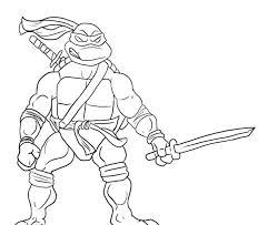 ninja turtles coloring pages leonardo. Modren Leonardo Leonardo Ninja Turtle Will Readily Kill Coloring Page In Turtles Pages N