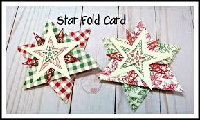 Stampingwithamore How To Make A Star Fold Card