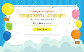 School Certificates Template Kindergarten Certificate Free Vector Art 21 Free Downloads