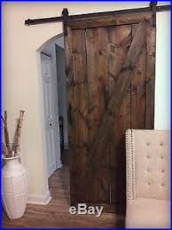 rustic barn door solid wood z style espresso with sliding track and hardware