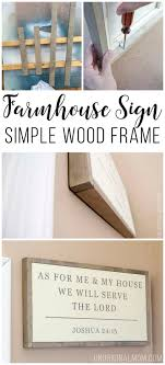 simple wood frame for a canvas unoriginal mom frames for canvas paintingsdiy