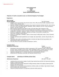 Electrical Engineering Resume Objective Best Ideas Of Electrical Engineering Resume Objective Also Format 4