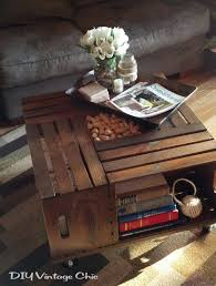 Coffee Table, Popular Brown Square Rustic Unique Wood Wine Crate Coffee  Table With Storage Design ...