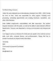 Letter Of Recommendation For Employee Sample 7 Best Reference Letter Images Letter Templates Cv Template
