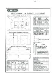 industrial garage door dimensions. Double Garage Door Sizes Peytonmeyer Net Industrial Dimensions M