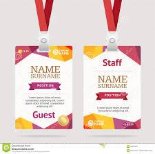 Stock Of 90296873 - Id Identification Badge Vector Card Template Illustration Plastic Graphic