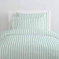 mint arrow stripe duvet cover