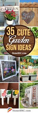 Adorable ceramic plant stand ideas for garden Landscape Lighting 35 Awesome Garden Sign Ideas To Spread Cheer Outdoors Homebnc 35 Best Garden Sign Ideas And Designs For 2019