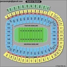 Uga Seating Chart Sanford Stadium 53 Methodical Uga Sanford Stadium Seating Chart